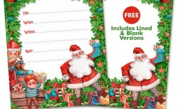 007 Dreaded Christma Party Flyer Template Free Image  Company Invitation Printable Word