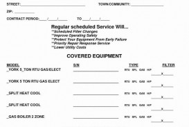 007 Dreaded Commercial Hvac Service Agreement Template Picture  Maintenance Contract