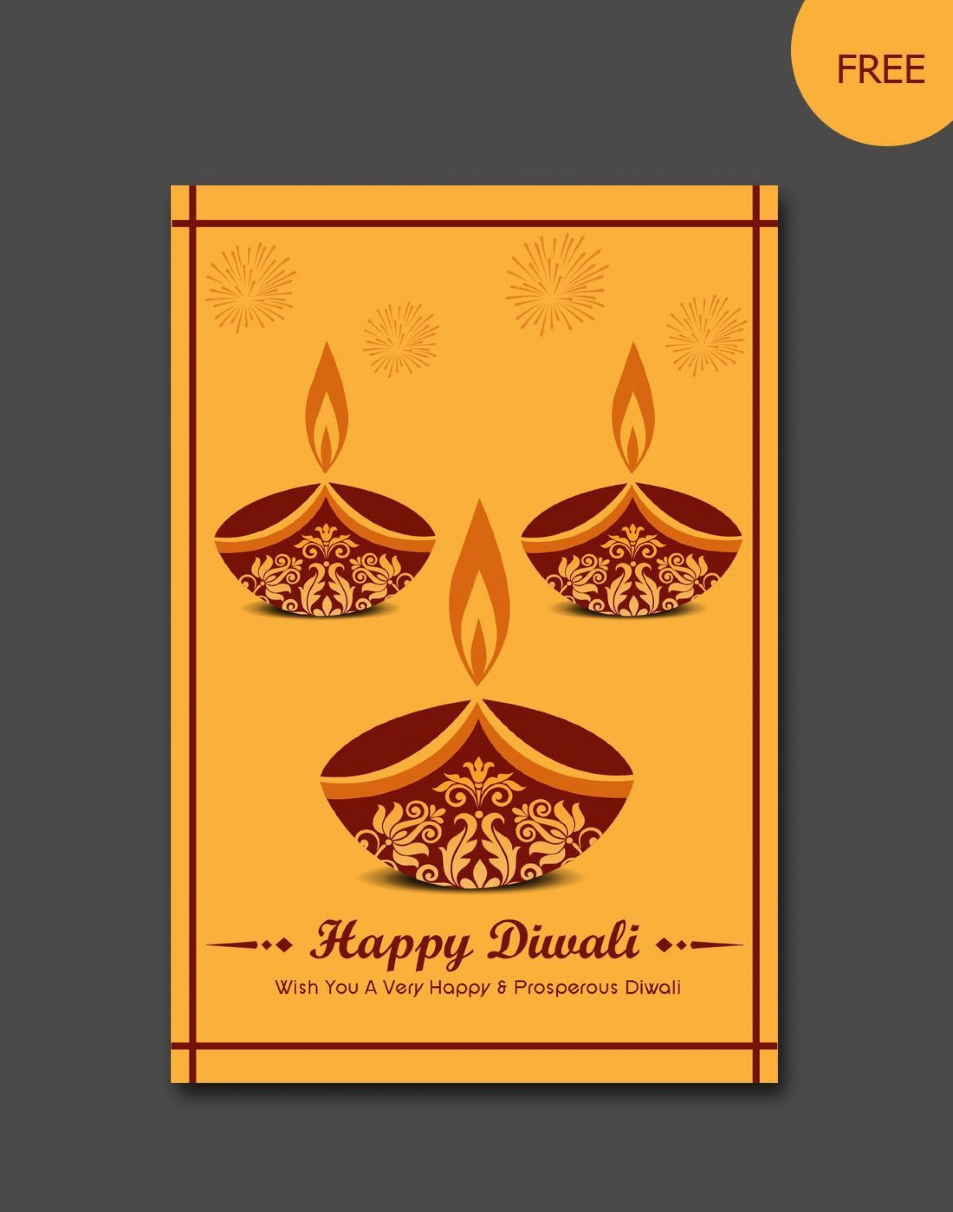 007 Dreaded Diwali Party Invite Template Free Picture 1920