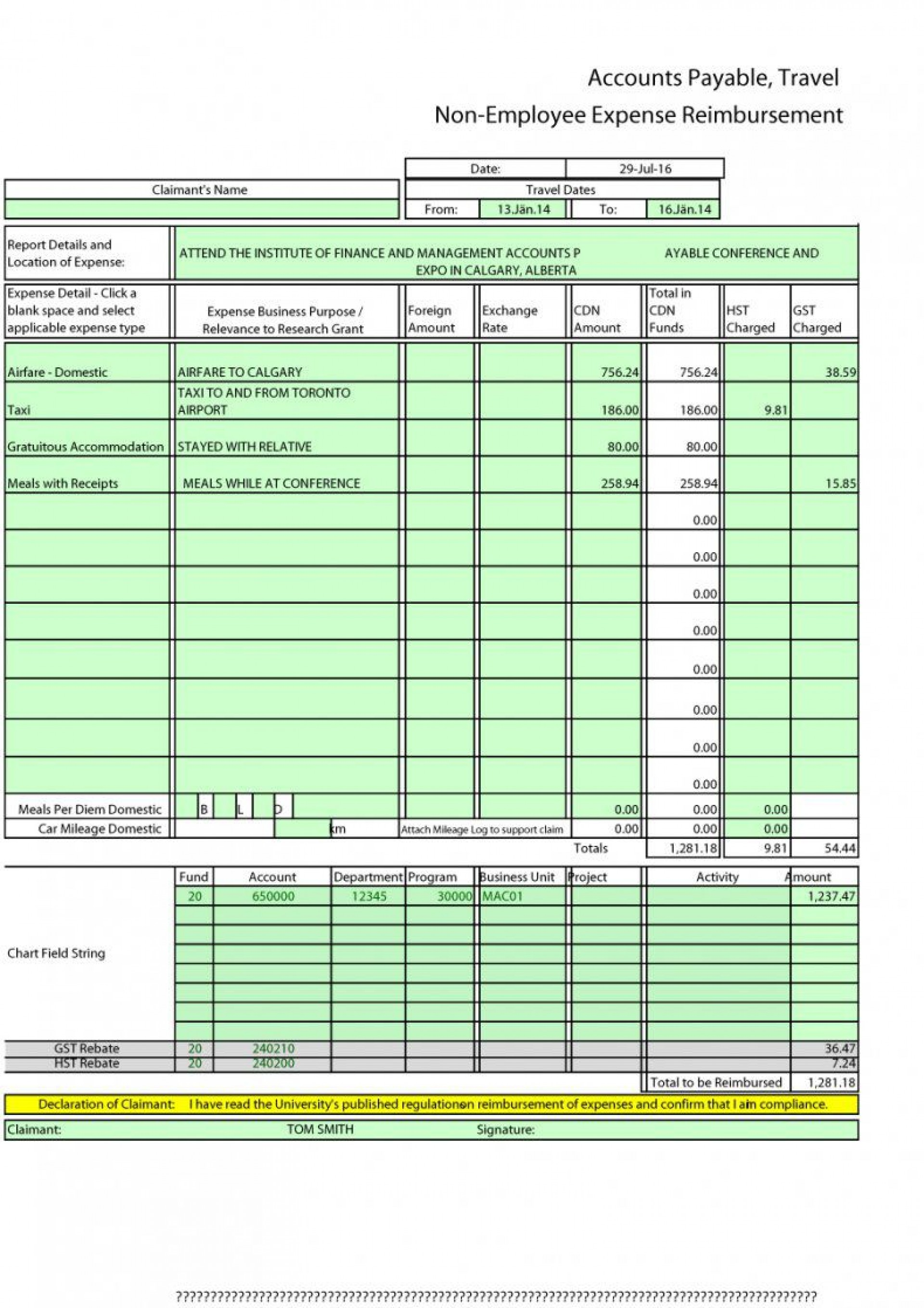 007 Dreaded Expense Report Template Excel Design  Free Format 20101920