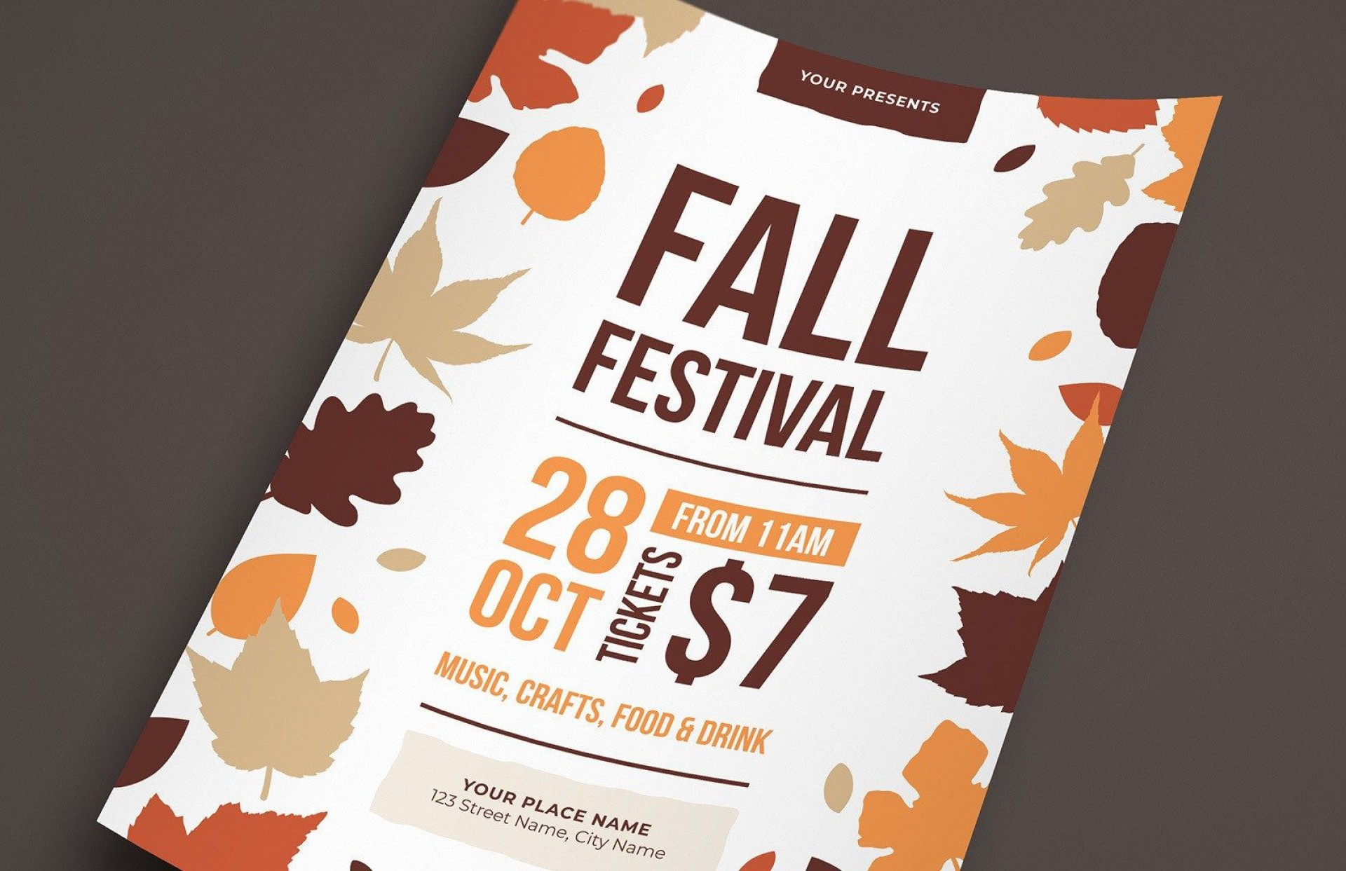 007 Dreaded Fall Festival Flyer Template Inspiration  Free1920