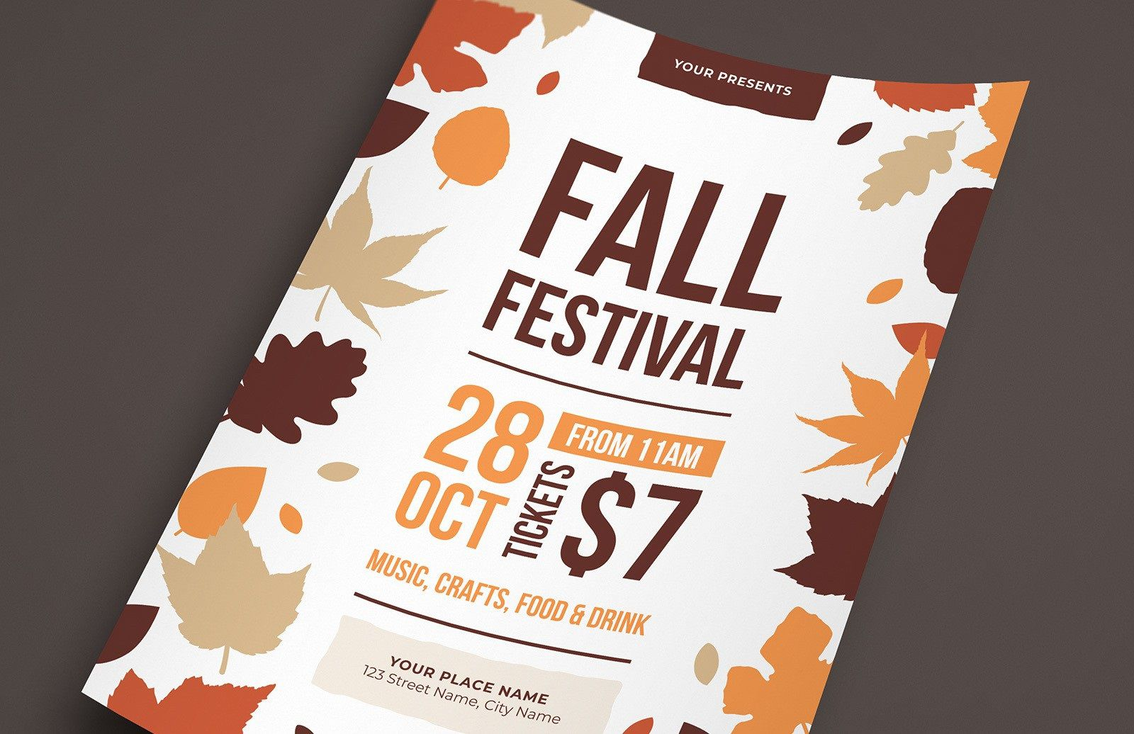 007 Dreaded Fall Festival Flyer Template Inspiration  FreeFull