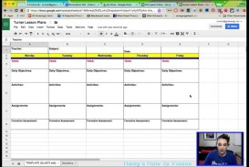 007 Dreaded Free Weekly Lesson Plan Template Google Doc Design