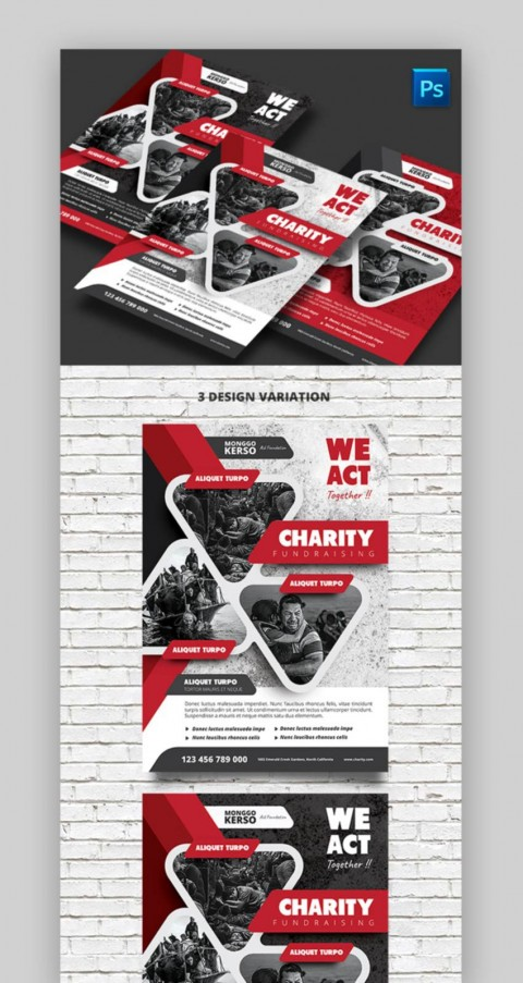 007 Dreaded Fundraiser Flyer Template Microsoft Word High Def 480