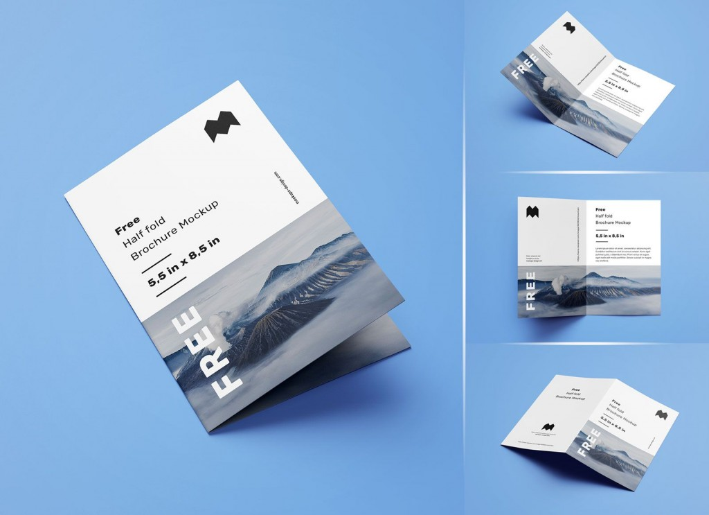 007 Dreaded Half Fold Brochure Template Free High Definition  Blank Microsoft WordLarge
