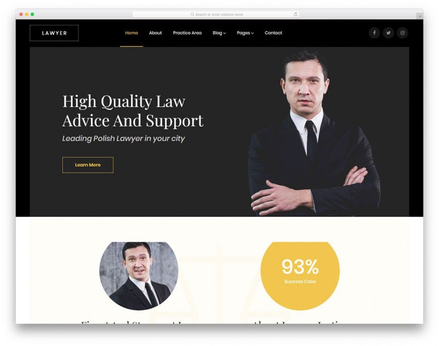 007 Dreaded Law Firm Website Template Free Idea  Wordpres