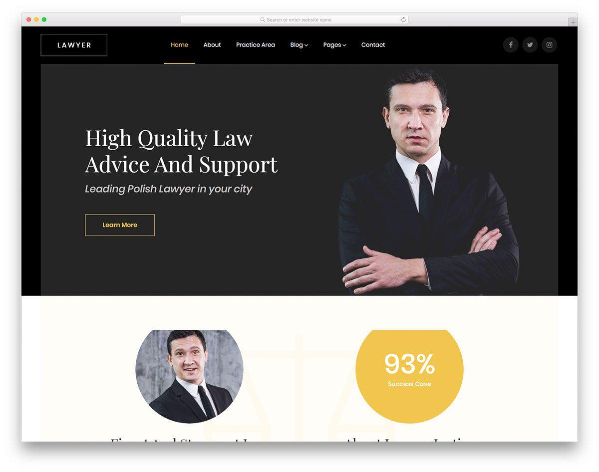 007 Dreaded Law Firm Website Template Free Idea  WordpresFull