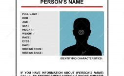 007 Dreaded Missing Person Poster Template Word High Resolution