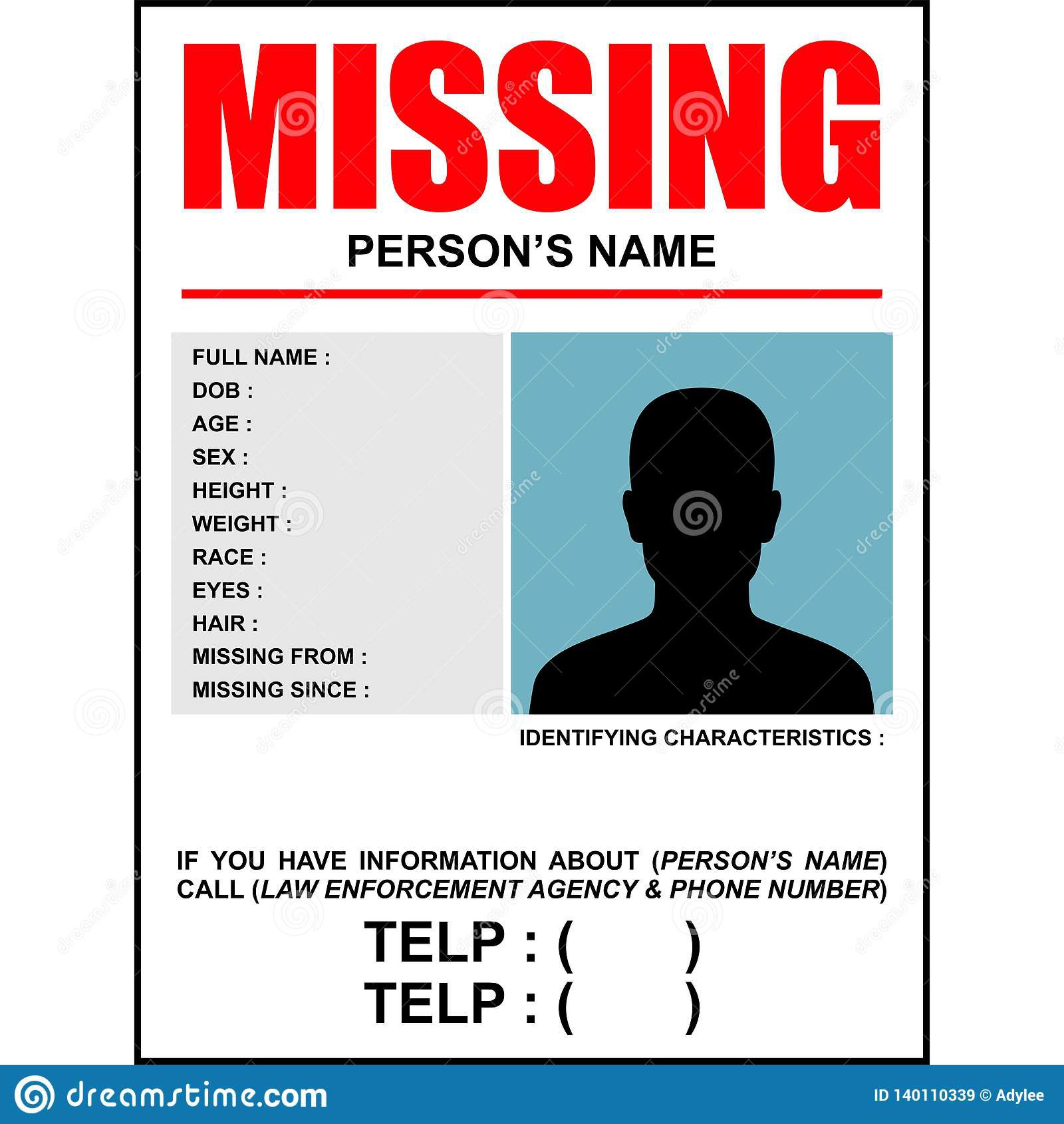 007 Dreaded Missing Person Poster Template Word High Resolution Full