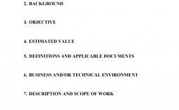 007 Dreaded Simple Statement Of Work Template Word Design