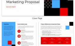 007 Dreaded Social Media Proposal Template High Resolution  Ppt Marketing Word 2019