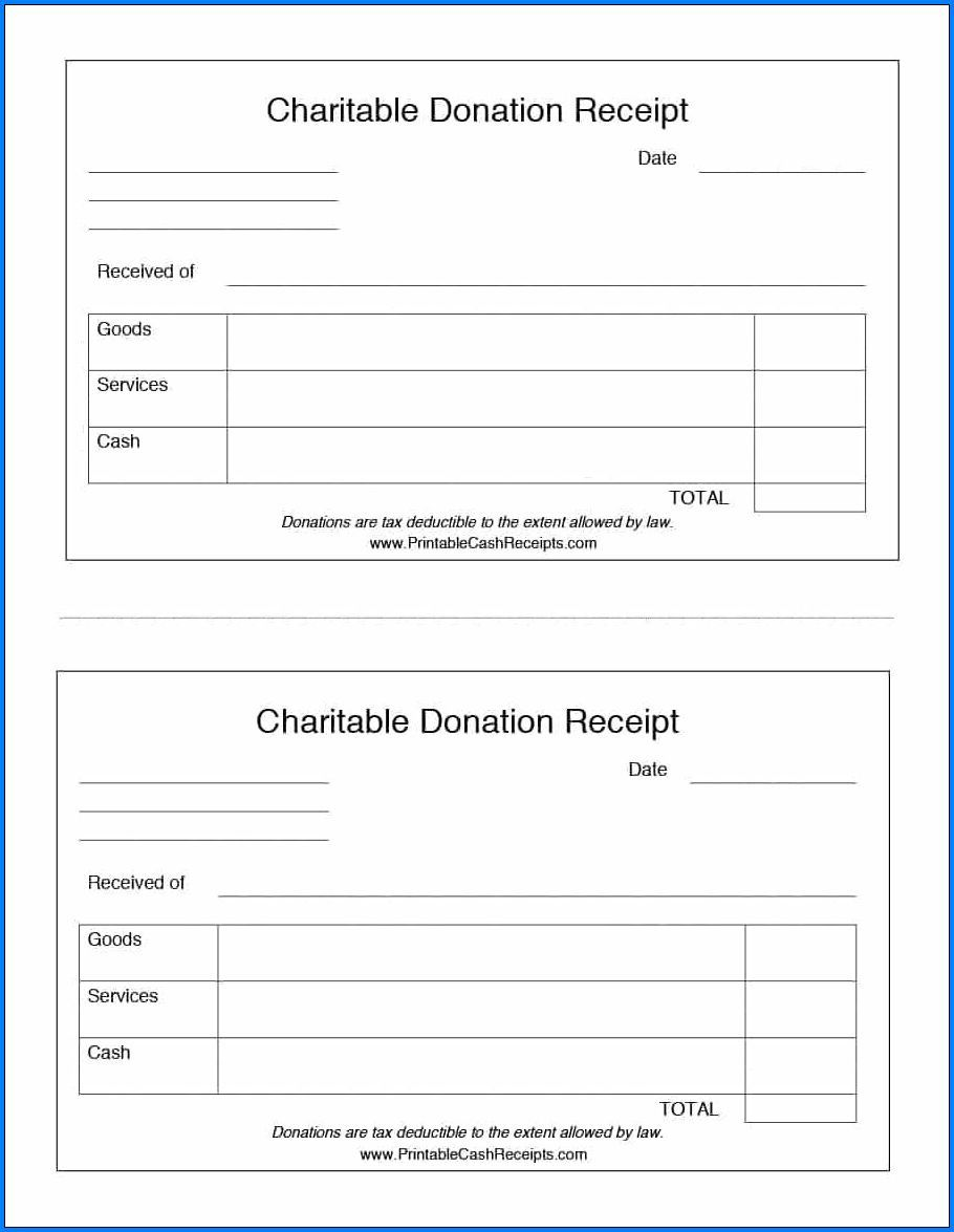 007 Dreaded Tax Deductible Donation Receipt Printable Image Full