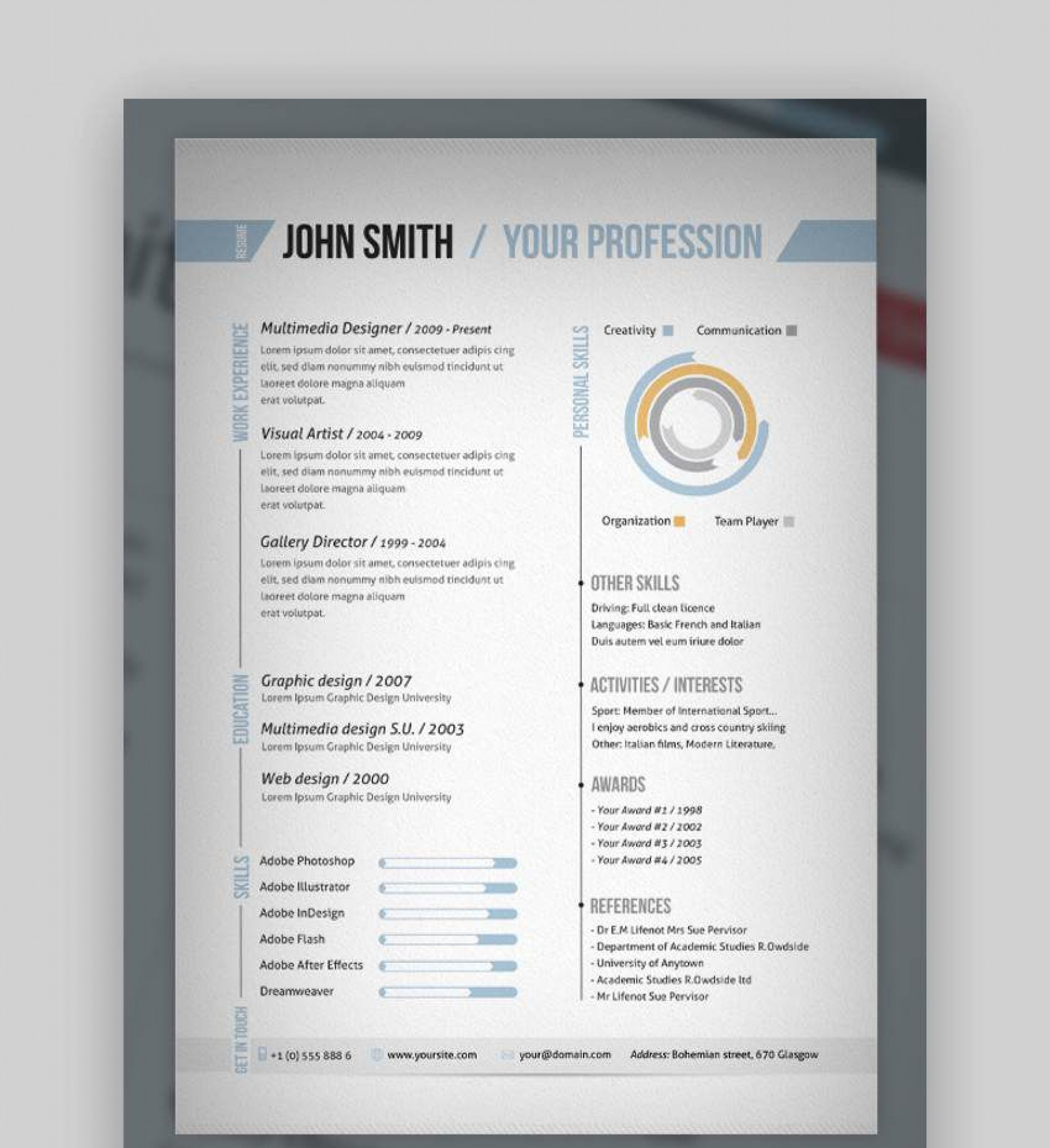007 Excellent 1 Page Resume Template High Def  Templates One Basic Word Free Html Download1920