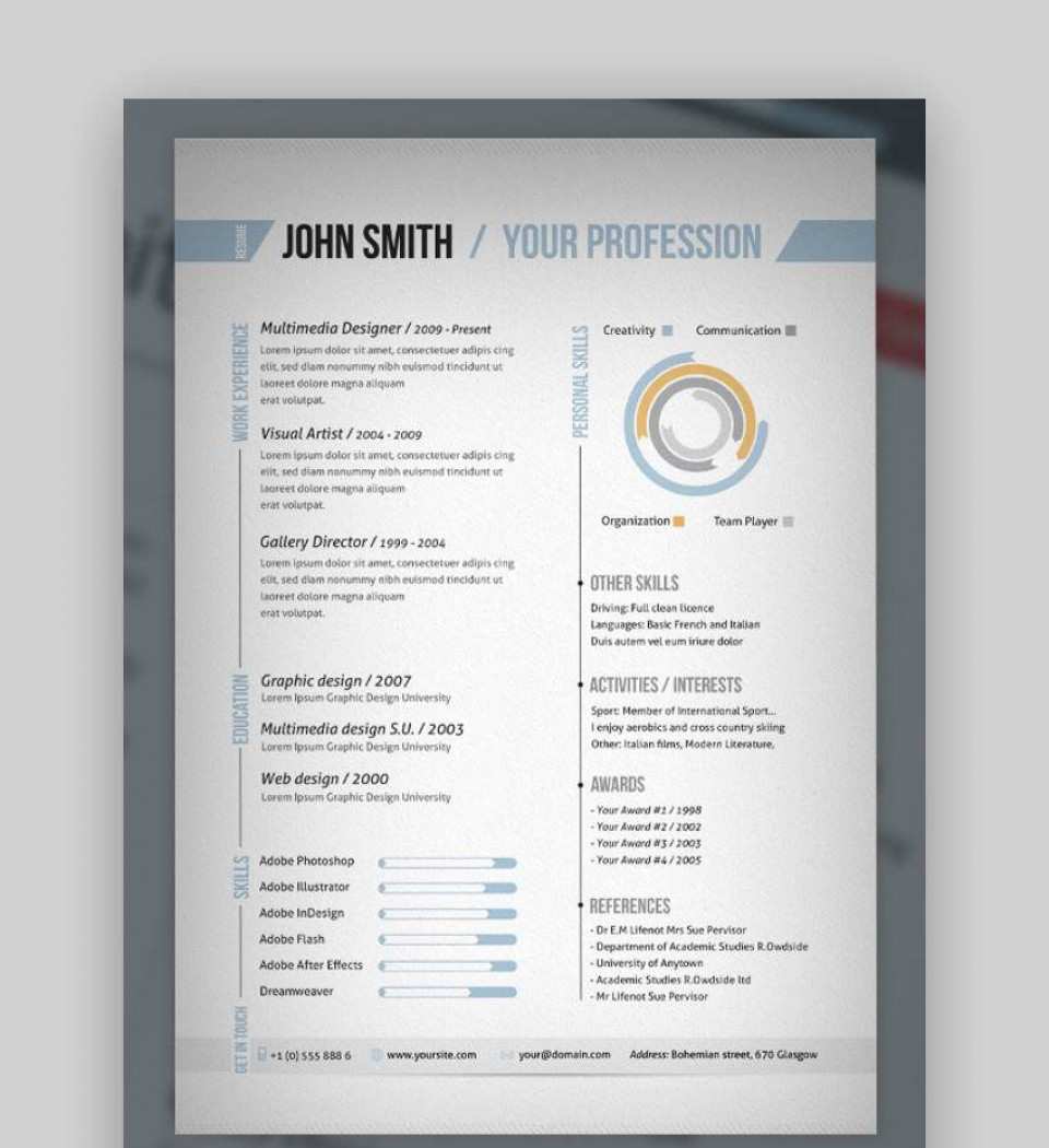 007 Excellent 1 Page Resume Template High Def  One Microsoft Word Free For Fresher960