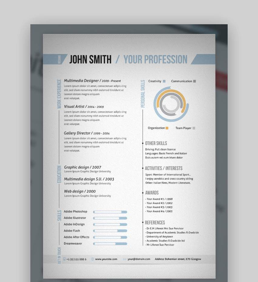 007 Excellent 1 Page Resume Template High Def  Templates One Basic Word Free Html DownloadFull