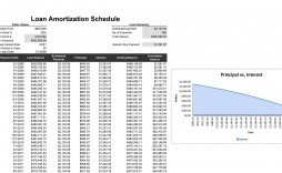 007 Excellent Amortization Schedule Excel Template Image  Calculator Free Loan Software Download