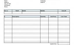 007 Excellent Automotive Repair Invoice Template Design  Free Auto Pdf Car Form