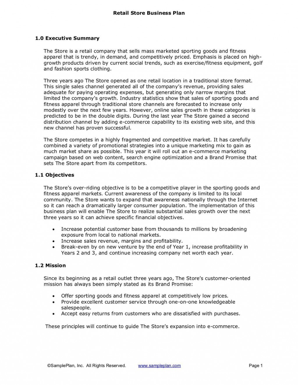 007 Excellent Busines Plan Executive Summary Template Word Inspiration Large