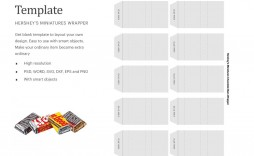 007 Excellent Candy Bar Wrapper Template Photoshop Idea  Hershey Free