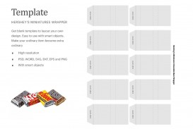 007 Excellent Candy Bar Wrapper Template Photoshop Idea  Chocolate