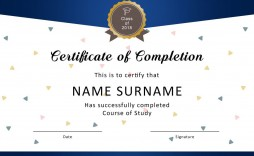 007 Excellent Certificate Of Award Template Word Free Sample