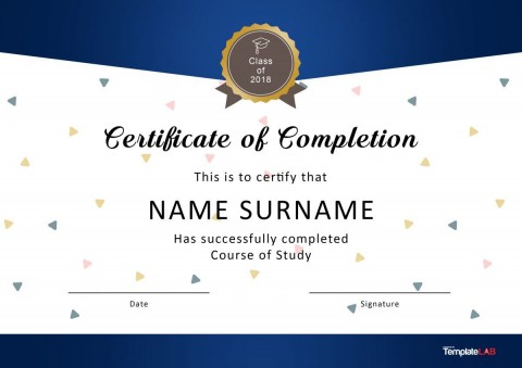 007 Excellent Certificate Of Award Template Word Free Sample 480