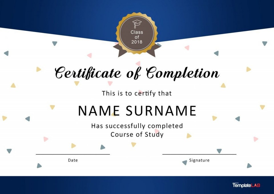 007 Excellent Certificate Of Award Template Word Free Sample 960
