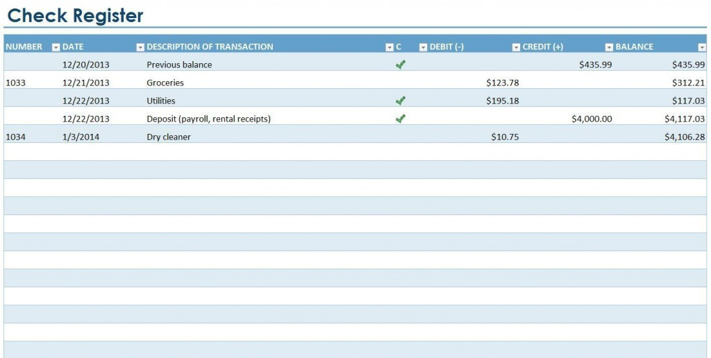 007 Excellent Checkbook Register Template Excel 2013 Highest Quality Large
