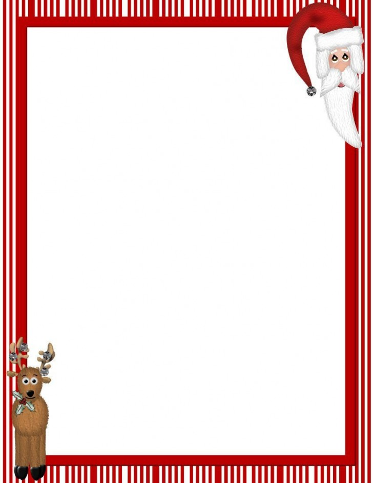 007 Excellent Christma Stationery Template Word Free High Resolution  Religiou For Downloadable728