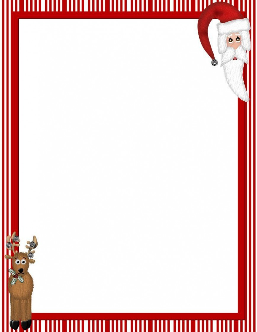 007 Excellent Christma Stationery Template Word Free High Resolution  Religiou For Downloadable868