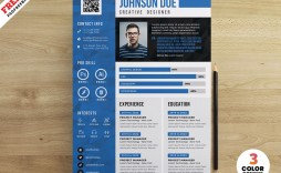 007 Excellent Cv Design Photoshop Template Free Photo  Creative Resume Psd Download