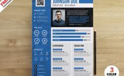 007 Excellent Cv Design Photoshop Template Free Photo  Resume Psd Download