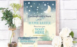 007 Excellent Diaper Raffle Ticket Template Sample  Boy Free Printable Print Black And White