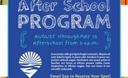 007 Excellent Free After School Program Flyer Template Concept