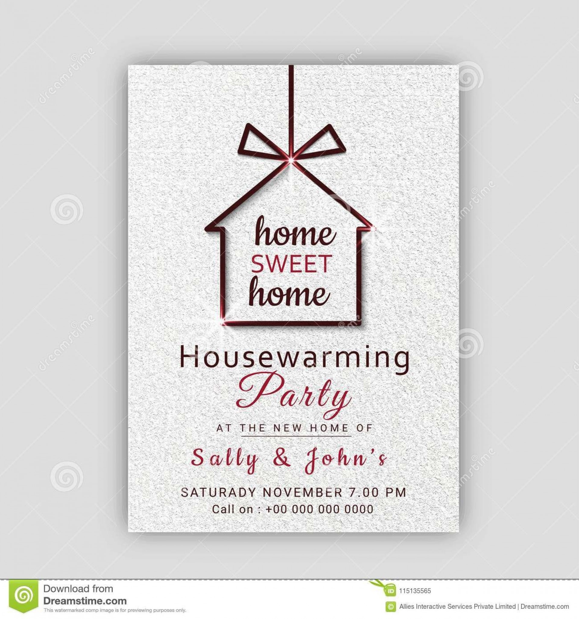 House Warming Party Invitation Template ~ Addictionary