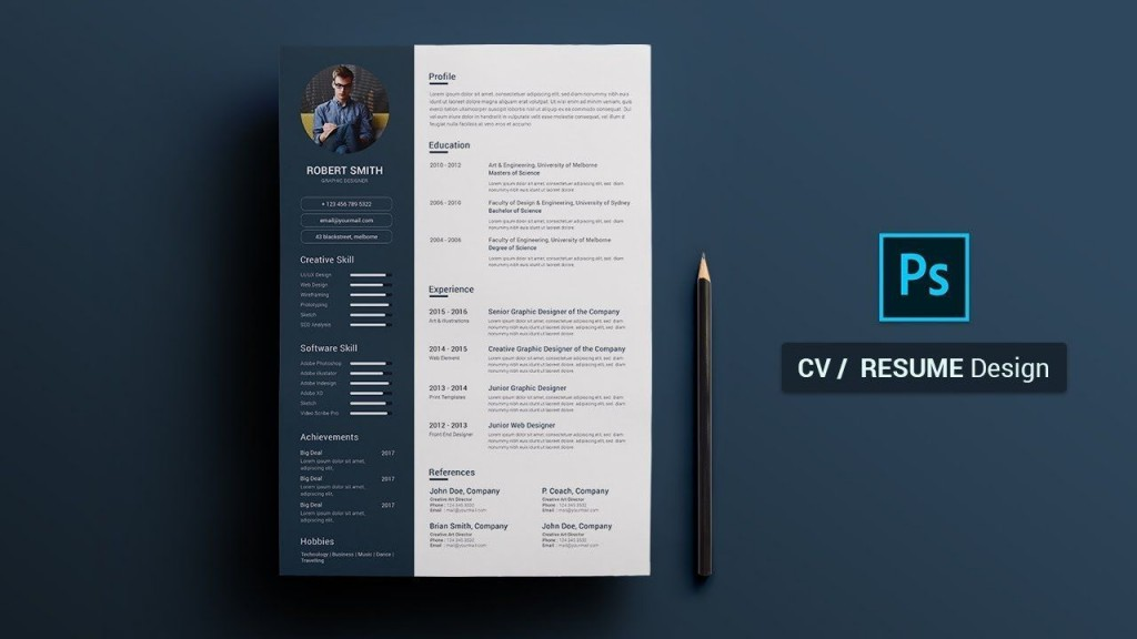 007 Excellent How To Create A Resume Template In Photoshop High Definition Large