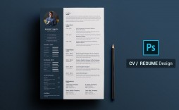 007 Excellent How To Create A Resume Template In Photoshop High Definition