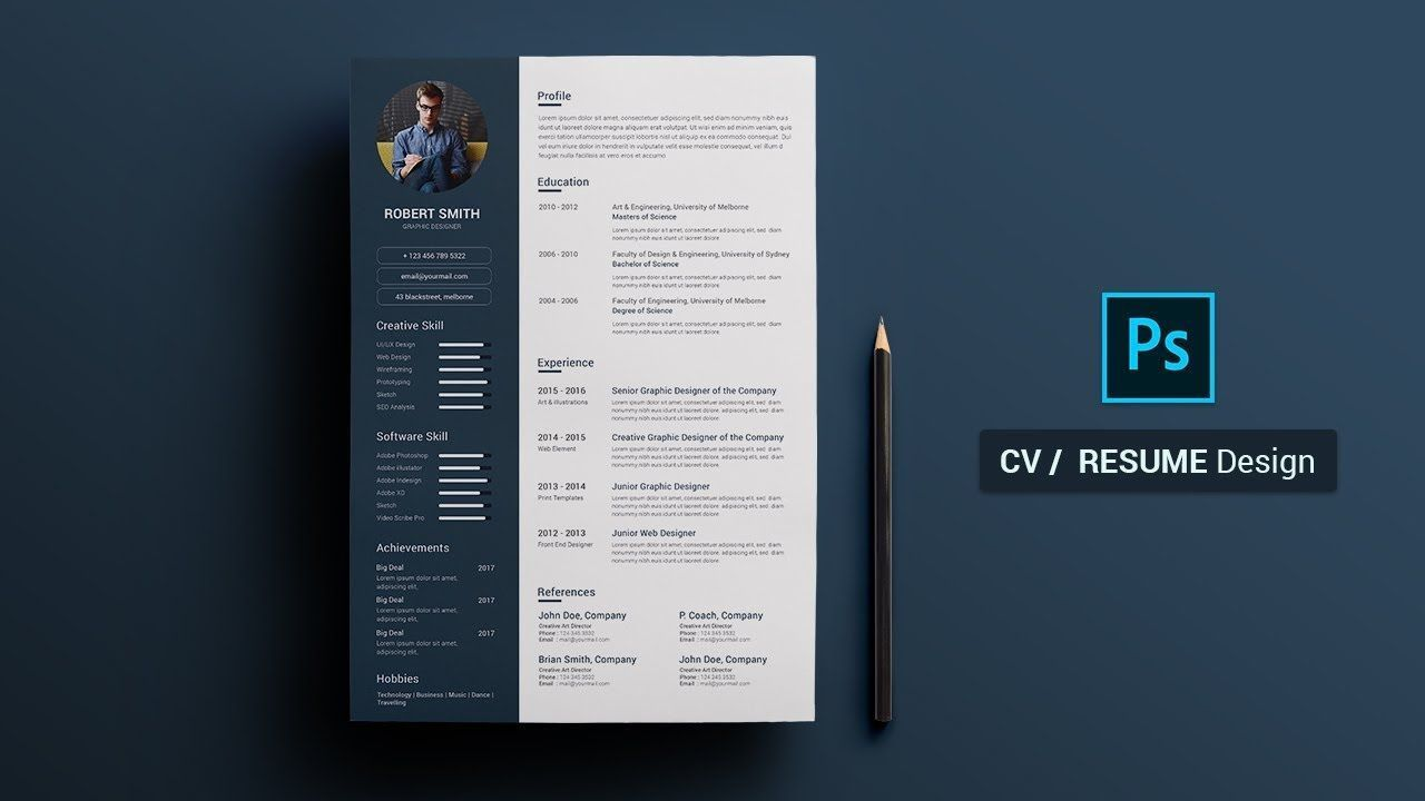 007 Excellent How To Create A Resume Template In Photoshop High Definition Full