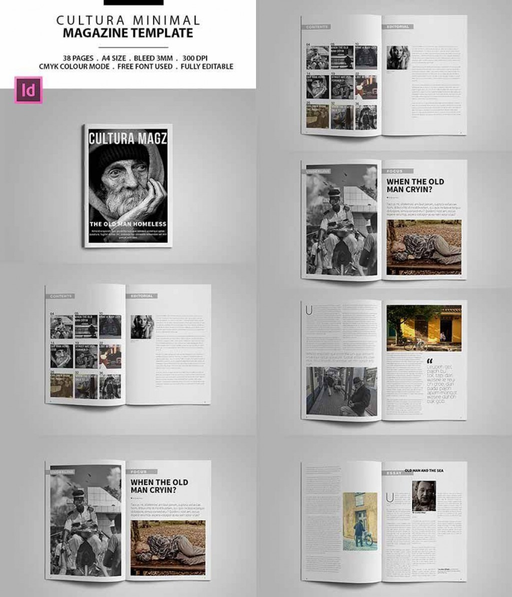 007 Excellent Indesign Magazine Template Free Design  Cover Download Indd Cs5Large