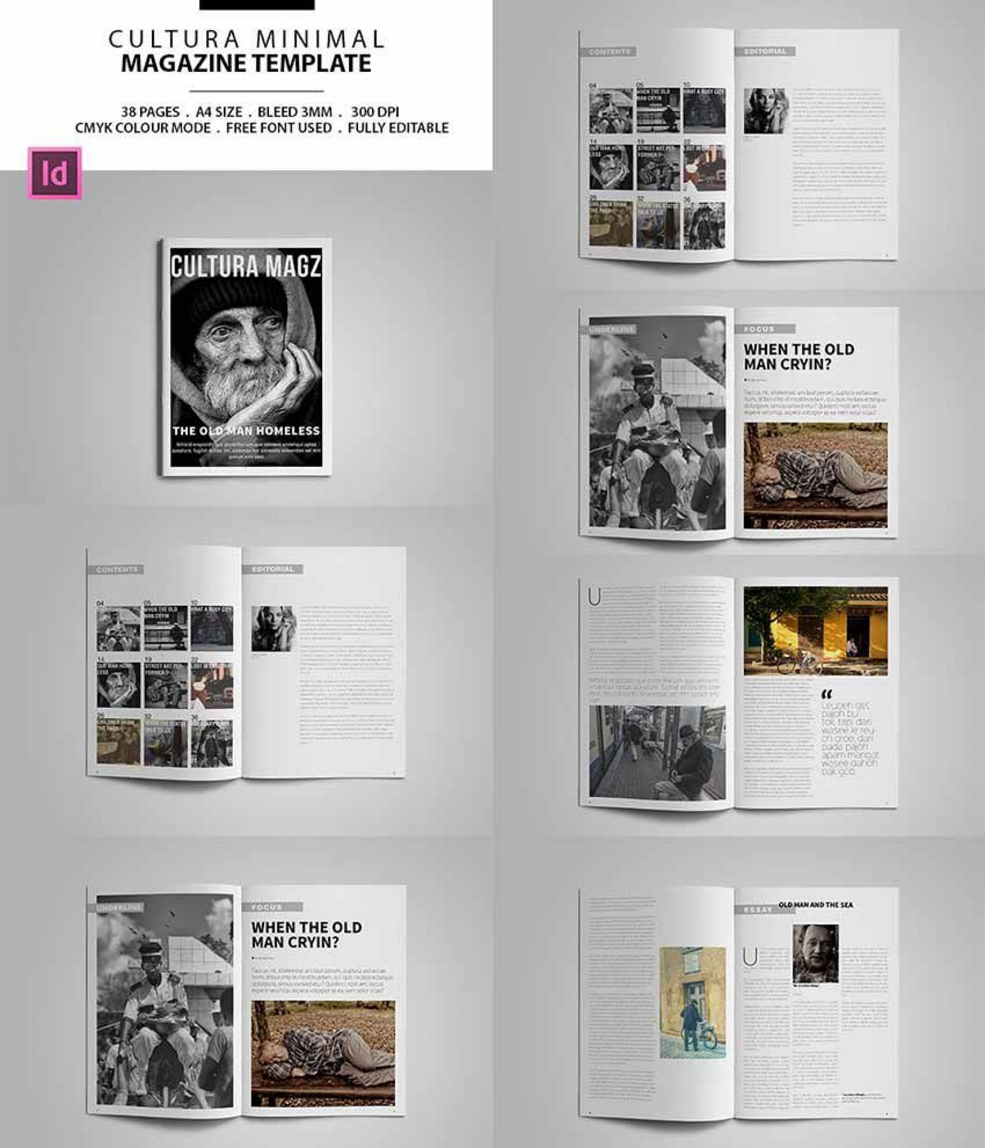 007 Excellent Indesign Magazine Template Free Design  Cover Download Indd Cs51920