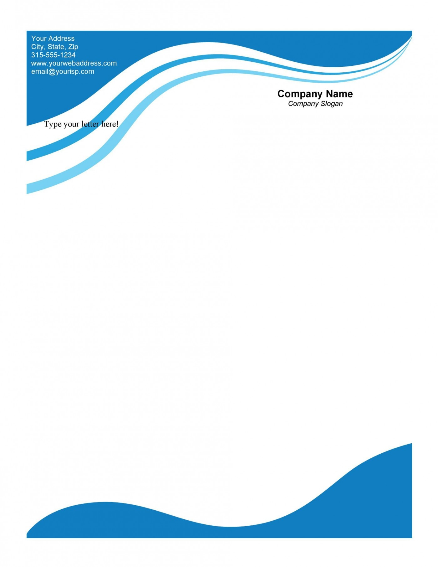 007 Excellent Letterhead Template Free Download Doc High Def  Company Format1400