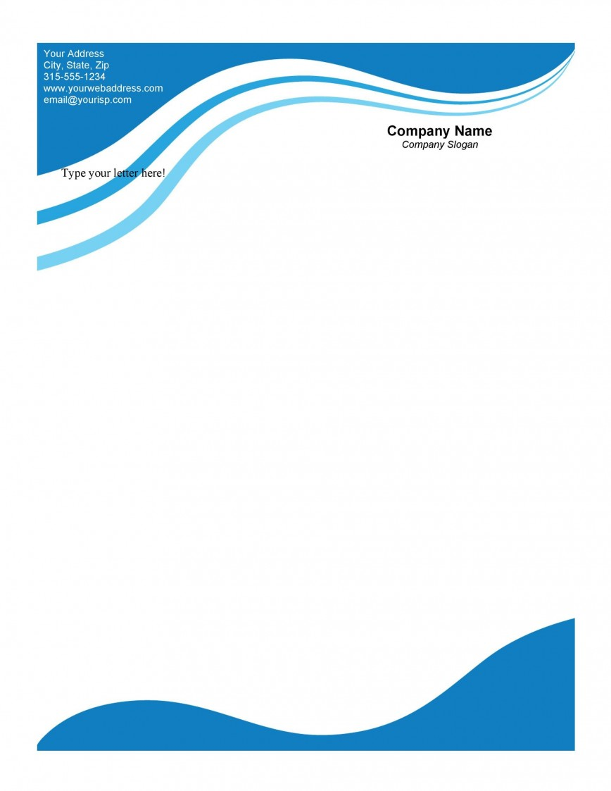 007 Excellent Letterhead Template Free Download Doc High Def  Company Format868