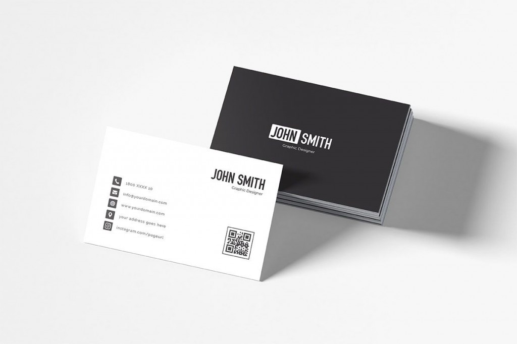 007 Excellent Minimalist Busines Card Template Psd Example Large