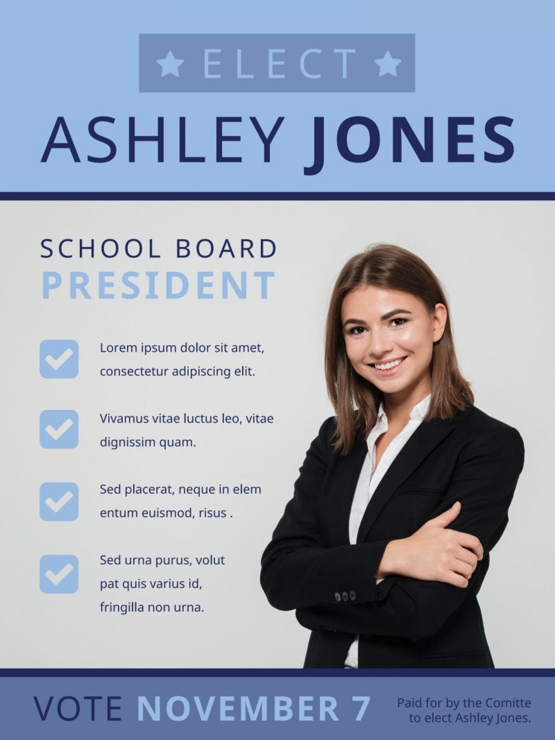 007 Excellent Online Campaign Poster Maker Free Sample  Election1920