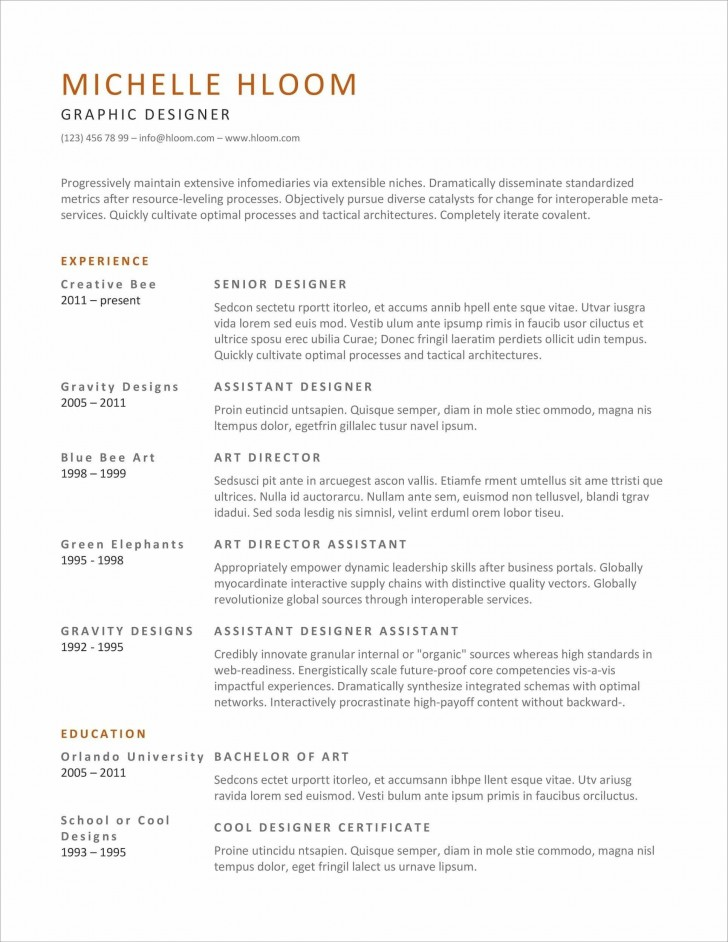 007 Excellent Resume Microsoft Word Template Example  Cv/resume Design Tutorial With Federal Download728