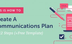 007 Excellent Strategy Communication Plan Template Example  Internal And Action Sample