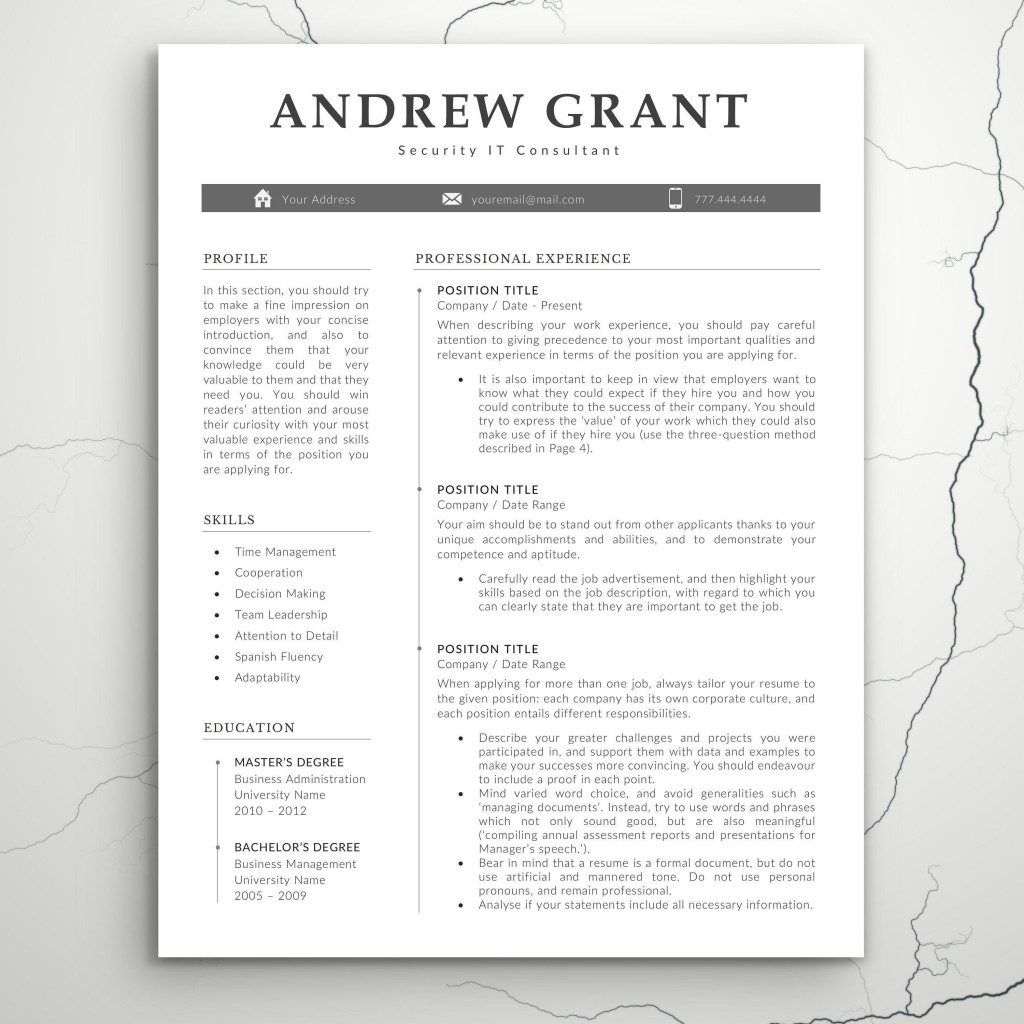 007 Excellent Teacher Resume Template Microsoft Word 2007 High Resolution Large