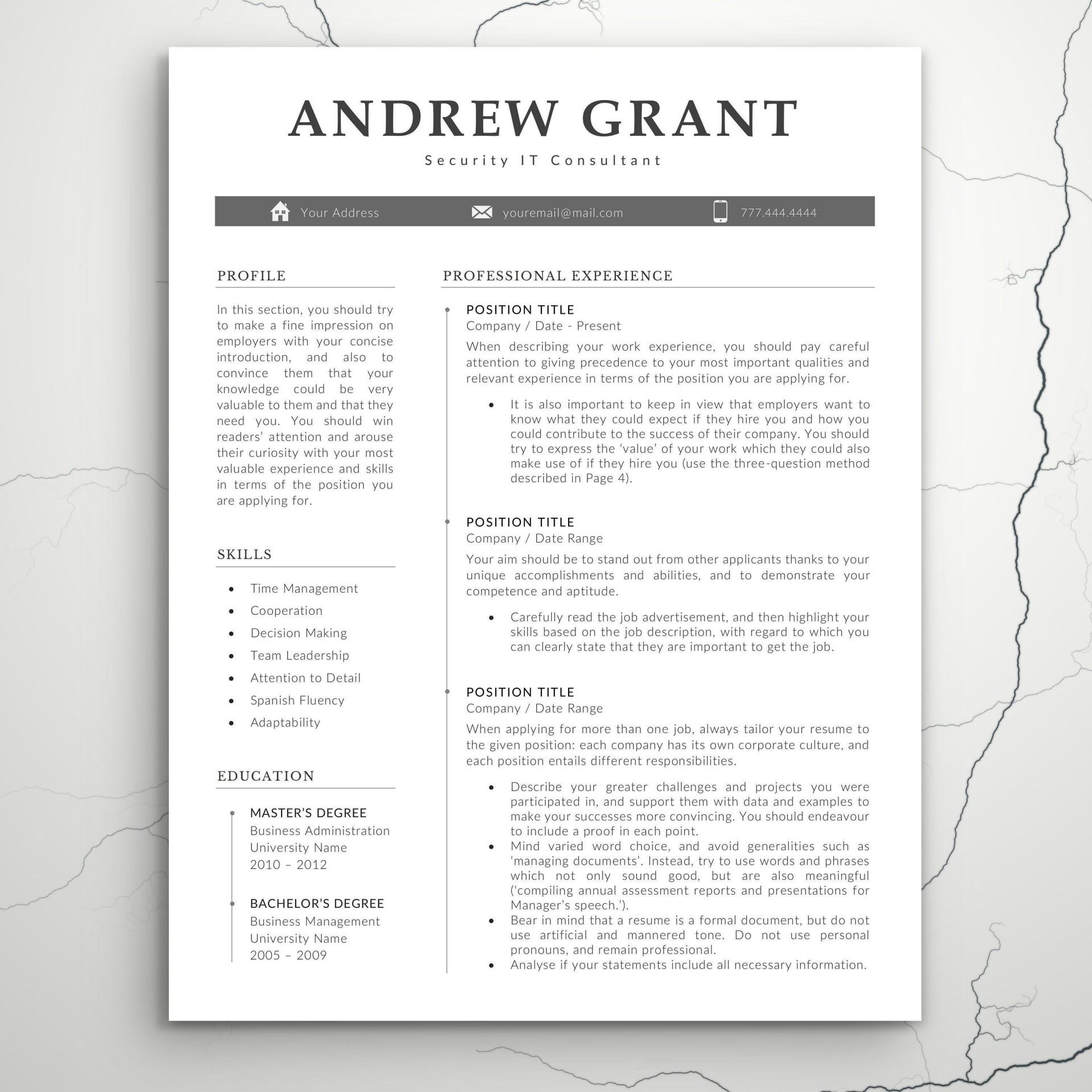 007 Excellent Teacher Resume Template Microsoft Word 2007 High Resolution 1920