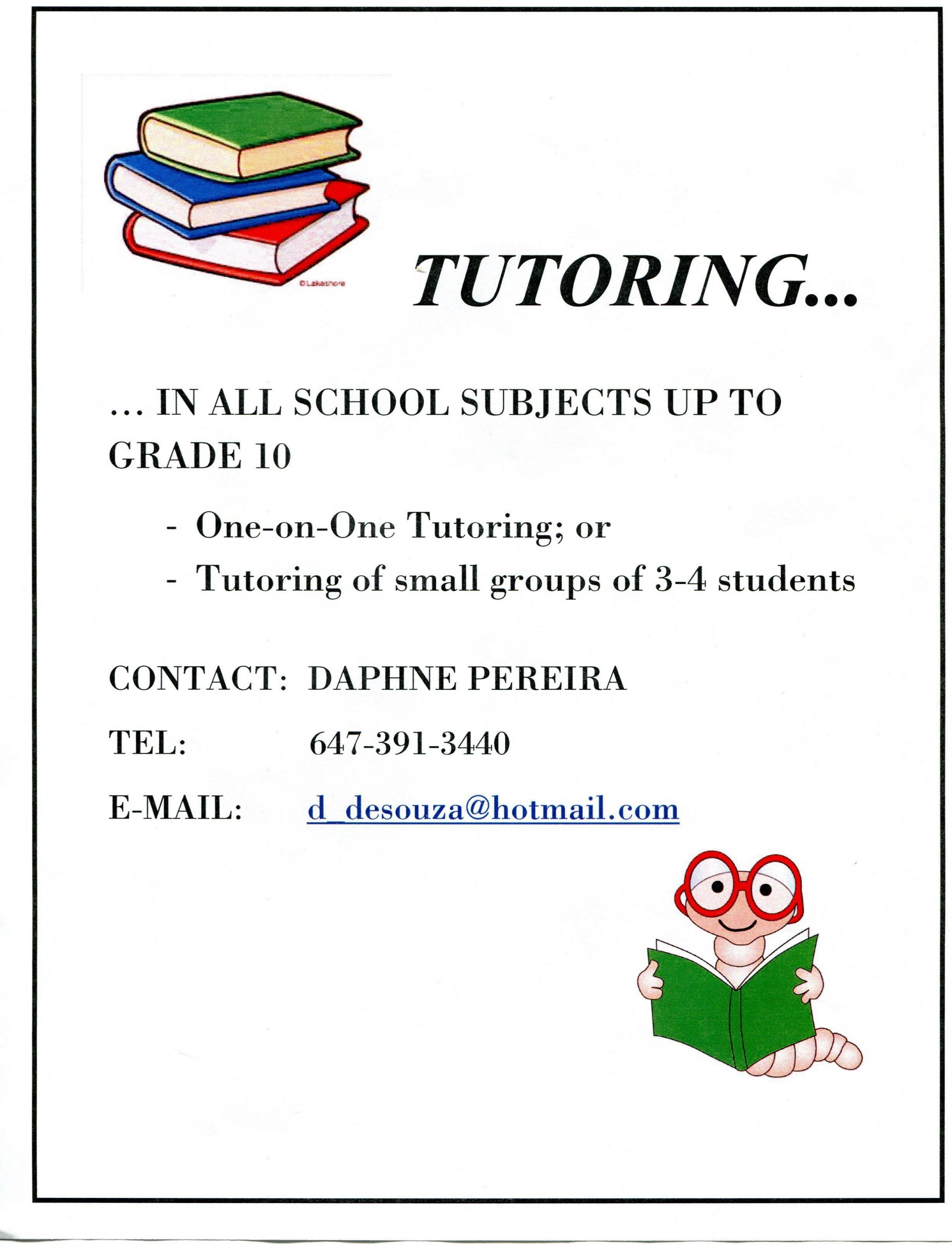 007 Excellent Tutoring Flyer Template Free Highest Clarity  Math Word1920