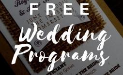 007 Excellent Wedding Program Template Free Highest Clarity  Fan Download Elegant